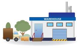 Warehouse. Vector for you design Stock Photography