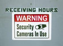 Warehouse Warning Sign stock photos