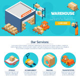 Warehouse Web Site Royalty Free Stock Photo
