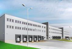 Warehouse whith loading docks Royalty Free Stock Photo