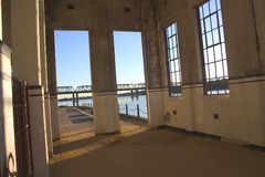 Warehouse window Royalty Free Stock Photo