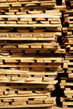Warehouse of wooden boards Stock Images