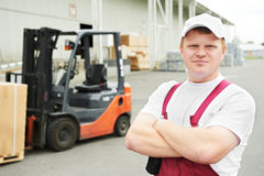 Warehouse worker in front Stock Image