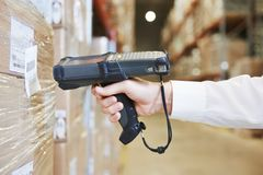 Free Warehouse Worker Hand With Scanner Royalty Free Stock Photo - 44292975