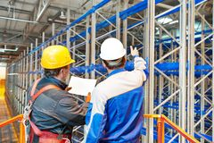 Warehouse worker in storehouse Stock Image