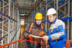 Warehouse worker in storehouse Stock Photo