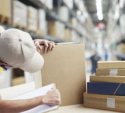 Warehouse worker at work Stock Photos