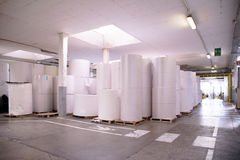 Warehouse (paper and cardoboard) Stock Images