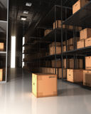 Warehouse y cajas Fotos de archivo libres de regalías