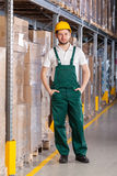 Warehouseman standing in storage Royalty Free Stock Photos