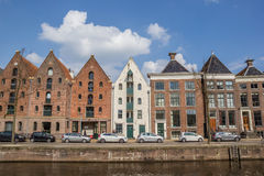 Warehouses at a canal in Groningen. The Netherlands Stock Photo