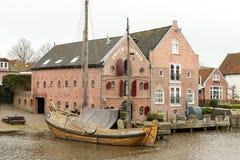 Warehouses Erven Brouwer in Dokkum. Stock Photos