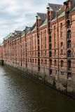 Warehouses of historic Speicherstadt in Hamburg, Germany. Europe Royalty Free Stock Photos