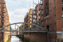 Warehouses in Speicherstadt in Hamburg, Germany Royalty Free Stock Photography