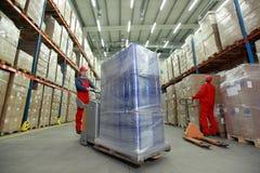 люди оптимизирования warehousing работа Стоковое Изображение