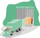 Warehousing activity Royalty Free Stock Photography