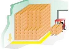 warehousing för aktivitet Arkivfoto