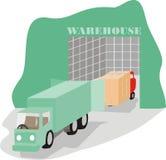 warehousing för aktivitet royaltyfri illustrationer