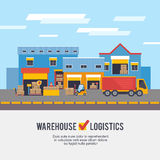 Warehousing and Logistic and Delivery vector illustration Stock Photography