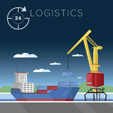 Warehousing and logistics processes. Stock Images