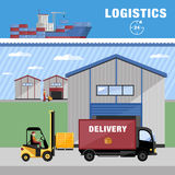 Warehousing and logistics processes. Royalty Free Stock Photography