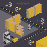 Warehousing process infographics Stock Images