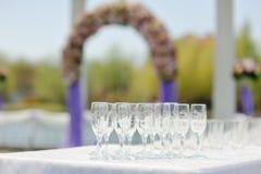 Waren, wijnglazen Royalty-vrije Stock Foto