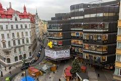 Warenhuis op het vierkant van de Republiek, Praag stock foto