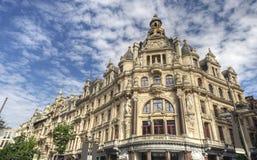 Warenhuizen in Antwerpen, België royalty-vrije stock foto