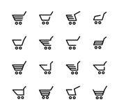 Warenkorb für Online-Shops Stockbilder