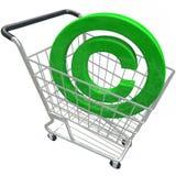 Warenkorb-geistiges Eigentum Protecti Copyright-Symbol-3d Stockfotografie