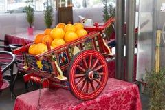 Warenkorb mit Orange Stockbild