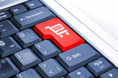Warenkorb und E-Commerce Lizenzfreies Stockfoto