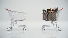 Warenkorb voll mit Produkten lizenzfreie abbildung