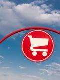 Warenkorbsymbol Lizenzfreies Stockbild