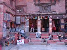 Wares being displayed outside a Kathmandu shop Stock Image