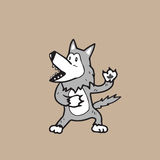Warewolf cartoon Royalty Free Stock Image
