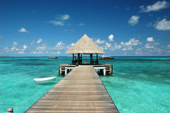 Warf hermoso en Maldives Fotografía de archivo