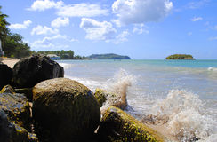 Warfe Beach St Lucia. Warfe Beach in St Lucia The West Indies Royalty Free Stock Photo