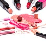Wargi makeup kosmetyki Fotografia Royalty Free