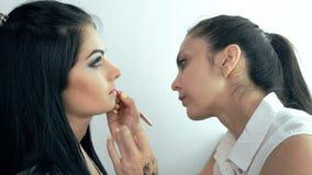 Wargi makeup Makeup artysta zbiory wideo
