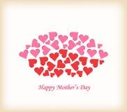Wargi robić serce matek dzień Zdjęcia Royalty Free