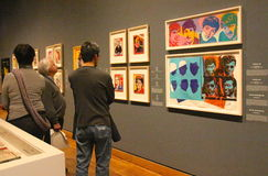 Warhol-Ausstellung Stockfotografie