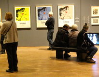 Warhol exhibition Stock Photos