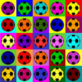 Warhol footballs Stock Photography