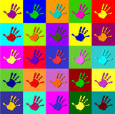 Warhol hands Royalty Free Stock Image