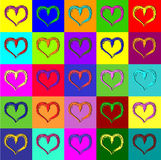 Warhol hearts Royalty Free Stock Image