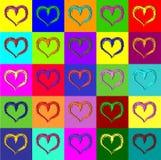 Warhol hearts Royalty Free Stock Image