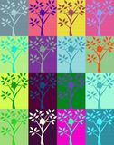 Warhol Sun splash on Tree. Warhol Illustration of sunshine splash behind vector tree Stock Photos