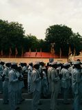 `Wari` - A traditional walk to the god stock photography